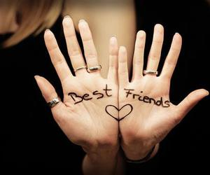 best friends, hands, and love image