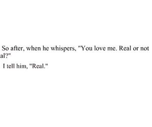 love, real, and quote image