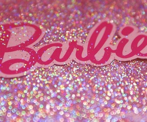 barbie, pink, and glitter image