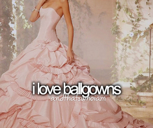 ballgown, dress, and i love image
