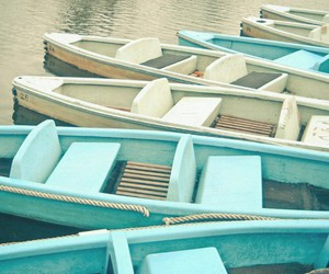 boat, blue, and white image