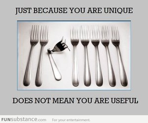 unique, fork, and quotes image