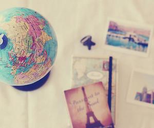 paris, globe, and travel image