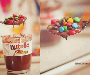 chocolate, m&m, and nutella image