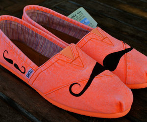 mustache, shoes, and orange image