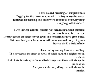 Letter, poem, and tumblr image