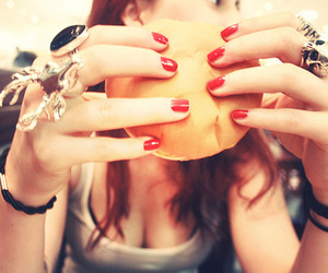 burger, fashion, and fingers image