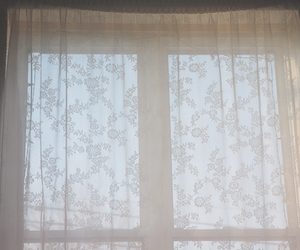 pale, cute, and curtains image