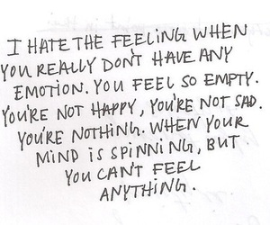 emotions, empty, and i hate... image