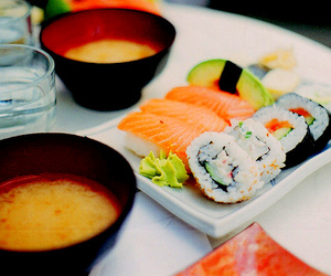 sushi, food, and soup image