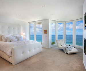 bedroom, white, and luxury image