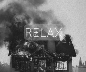relax, fire, and house image