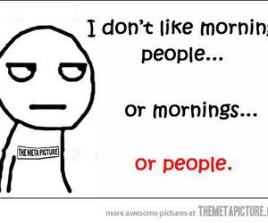 funny, people, and morning image