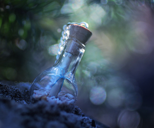 bottle, magic, and message image
