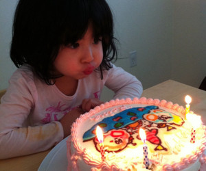 bday, cake, and kid image