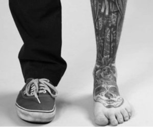 tattoo, vans, and feet image