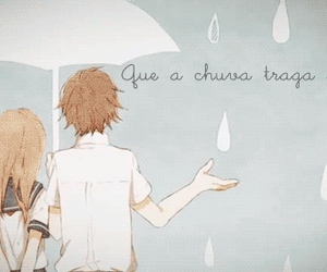 anime, rain, and couple image