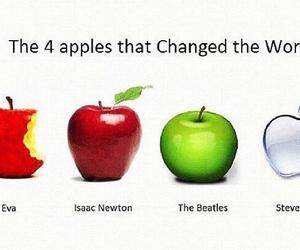 apple, change the world, and the beatles image