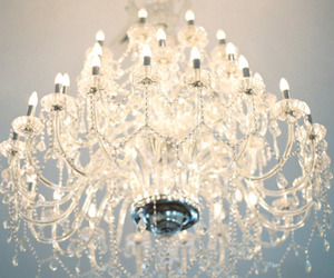 light, chandelier, and crystal image