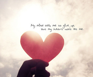 heart, love, and quote image