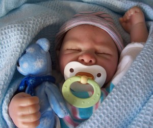 baby, doll, and reborn doll image