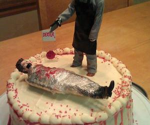 cake, Dexter, and blood image