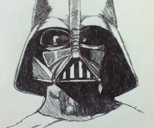 darth vader, star wars, and drawing image