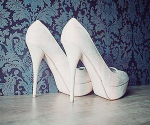 shoes, white, and heels image