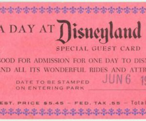 disneyland, disney, and ticket image