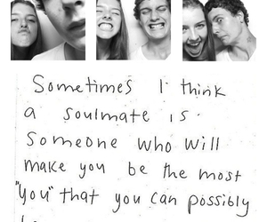 love, soulmate, and quote image