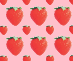 strawberry, pink, and cute image