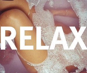 relax, bath, and water image