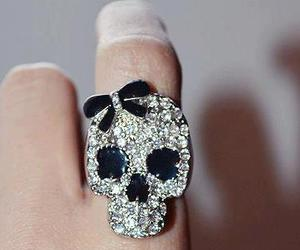 skull, ring, and anel image
