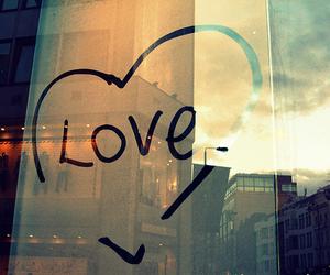 love, heart, and window image