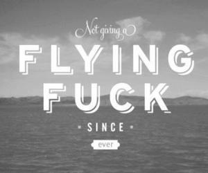 fuck, Flying, and text image