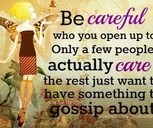 quote, gossip, and care image
