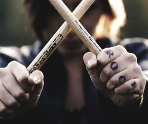 rock, music, and drums image