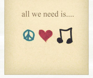love, music, and peace image