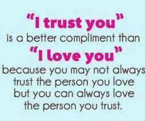 trust and text image