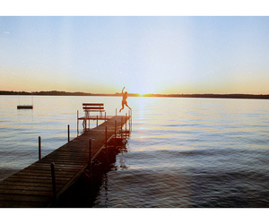girl, jump, and sun image