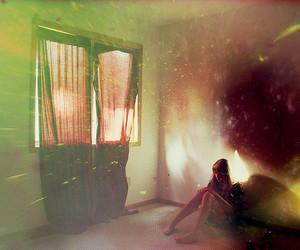 girl, light, and window image