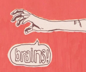 brains, quote, and zombie image