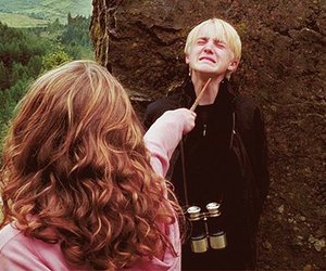 harry potter, draco malfoy, and hermione granger image