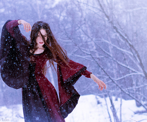 clothes, snowing, and girl image