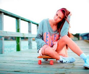 model, skateboard, and ruby image