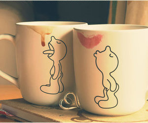 cup, coffee, and kiss image