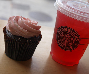 starbucks, cupcake, and food image