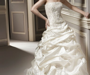 wedding, bride, and gown image