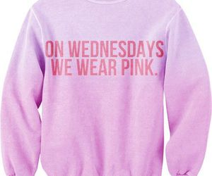pink, mean girls, and sweater image