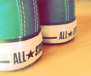 all stars, blue, and converse image